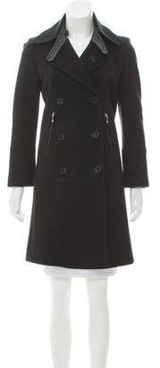 Strenesse Double-Breasted Knee-Length Coat