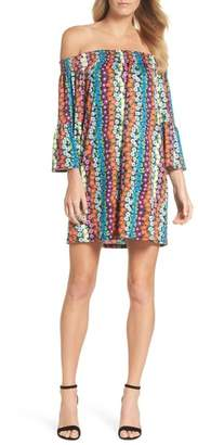 Trina Turk trina  Off the Shoulder Bell Sleeve Dress