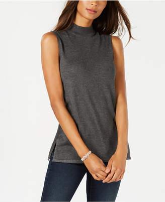 JM Collection Sleeveless Mock-Turtleneck Sweater