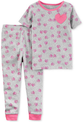 Carter's Little Planet Organics 2-Pc. Hearts Cotton Pajama Set, Baby Girls