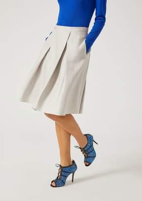 Emporio Armani Pleated Full Circle Skirt