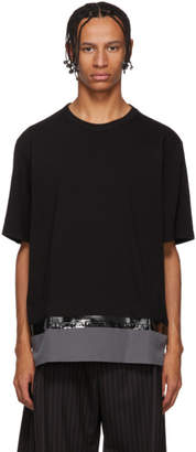 Marni Black and Purple Bonded T-Shirt