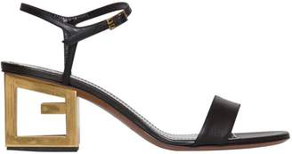 Givenchy Triangle Sandal In Smooth Leather In Black