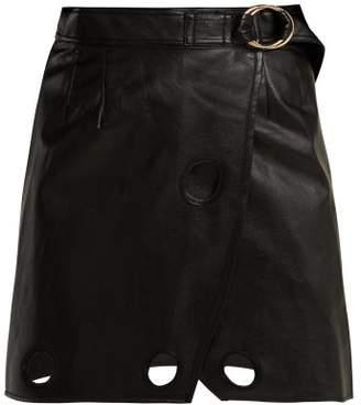 Self-Portrait Self Portrait Wrap Mini Skirt - Womens - Black