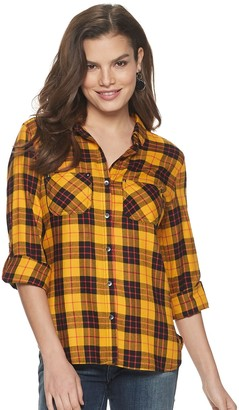 Rock & Republic Women's Drapey Roll Cuff Shirt