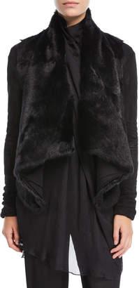 Neiman Marcus Urban Zen Draped Goat Fur Jacket