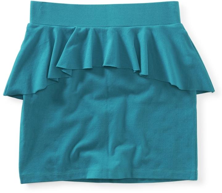 Aeropostale Solid Peplum Knit Skirt