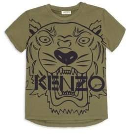 Kenzo Little Boy's & Boy's Kaki Tiger T-Shirt