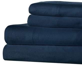 Ella Jayne Home Flannel Full Sheet Set - Navy
