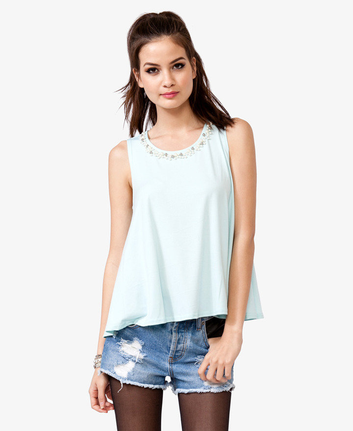 Forever 21 Pearlescent A-Line Tank