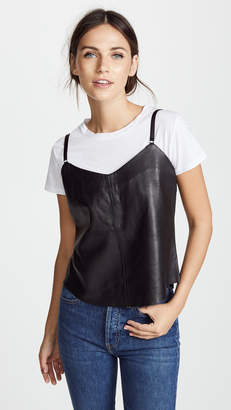 Veda Leather Camisole