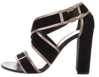 Alexander McQueen Suede High Heel Sandals