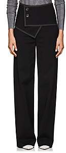 Derek Lam Women's Stretch Cotton-Blend Flared Trousers - Black
