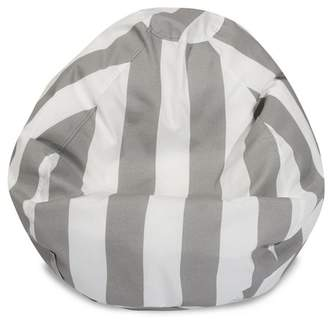 Majestic Home Goods Vertical Stripe Large Classic Bean Bag Chair