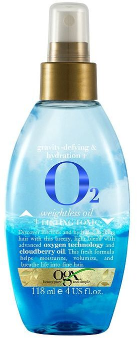 OGX Gravity-Defying & Hydration + O2 Weightless Oil + Lifting Tonic 118ml