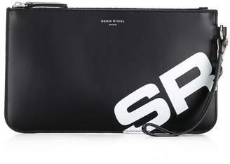 Sonia Rykiel initial print clutch bag