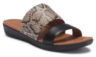 FitFlop Delta Snake-Embossed Slide Sandal