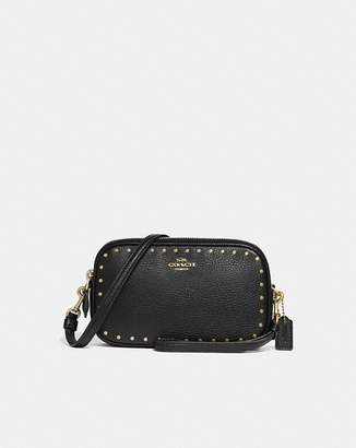 Coach Crossbody Clutch With Rivets