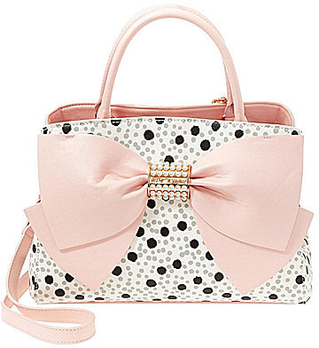Betsey Johnson Betsey Johnson Pearl of A Girl Dotted Bow Satchel