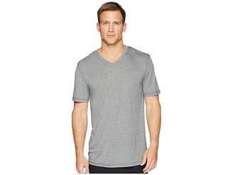 Jockey 50 Rayon/50 Poly Knit Short Sleeve V-Neck Tee Men's Short Sleeve Pullover