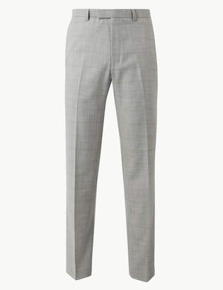 Marks and Spencer Checked Tailored Fit Trousers