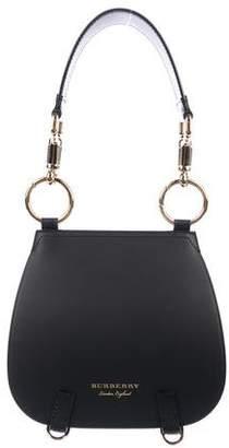 Burberry Leather Double-Flap Satchel