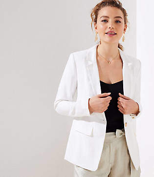 LOFT Textured Long Blazer