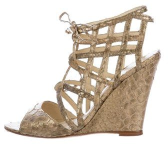 Alexandre BirmanAlexandre Birman Python Wedge Sandals