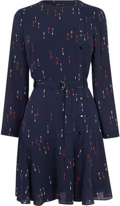Karen Millen Arrow-Print Mini Dress