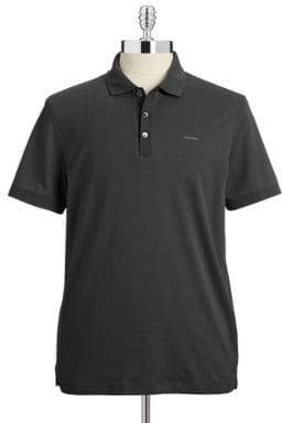Calvin Klein Cotton Jersey Polo Shirt