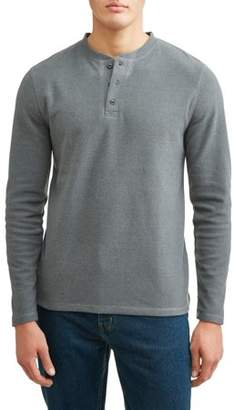 Lee Men's Long Sleeve Polor Fleece Henley, Available up to size XL