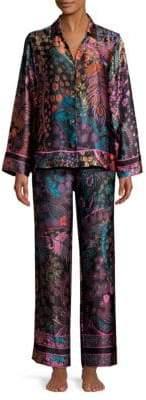 Josie Natori Nouveau Two-Piece Silk Pajama Set