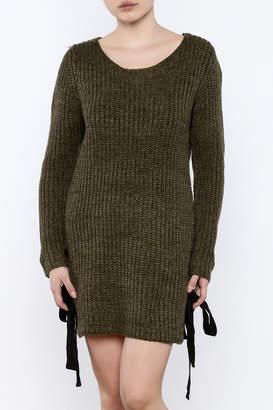 Love Tree Olive Sweater Dress