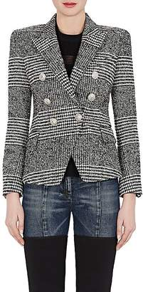 Balmain Women's Houndstooth Wool-Blend Double-Breasted Blazer