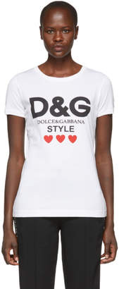 Dolce & Gabbana White Fitted Style T-Shirt