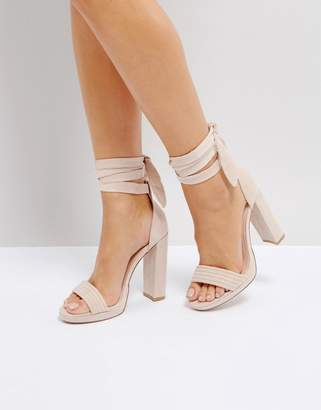 Tie Up Round Toe Point High Heels - Light pink Coco Wren Bulk Designs Real Buy Cheap Best Sale Free Shipping Lowest Price VNWzY