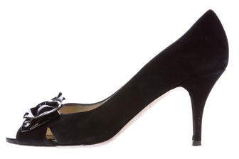 Kate SpadeKate Spade New York Suede Bow-Accented Pumps