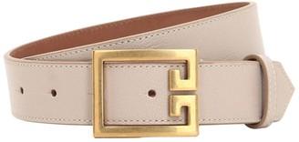 Givenchy 30mm Logo Leather Belt