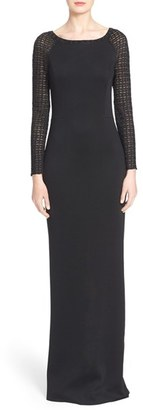 Women's St. John Collection Crystal & Glass Pearl Embellished Knit Gown $2,395 thestylecure.com