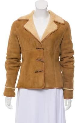 Ellen Tracy Linda Allard Shearling Toggle Jacket