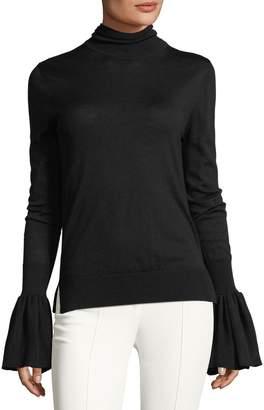 ADAM by Adam Lippes Bell-Sleeve Knit Turtleneck Sweater