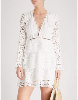 Zimmermann Bayou tiered swirl cotton dress