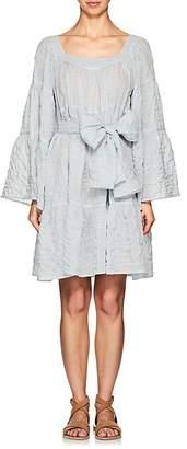 Lisa Marie Fernandez Women's Striped Cotton Peasant Midi-Dress