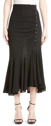 Women's Michael Kors Drape Silk Midi Skirt $1,150 thestylecure.com
