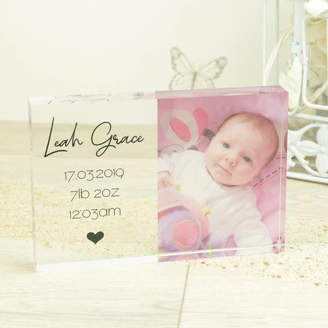 Dreams to Reality Design Ltd Personalised 6x4' New Baby Photo Acrylic Block