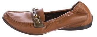 AGL Leather Embellished Loafers
