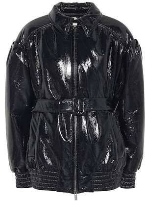 Miu Miu Belted vinyl jacket