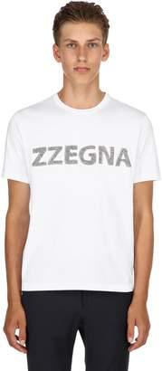 Ermenegildo Zegna Logo Cotton Jersey T-Shirt