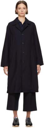 Blue Blue Japan Indigo Ventless Drop Shoulder Coat