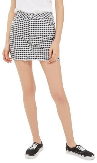 TopshopWomen's Topshop Gingham Miniskirt